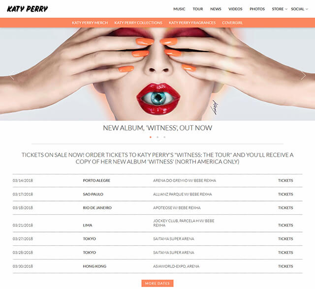website katy perry