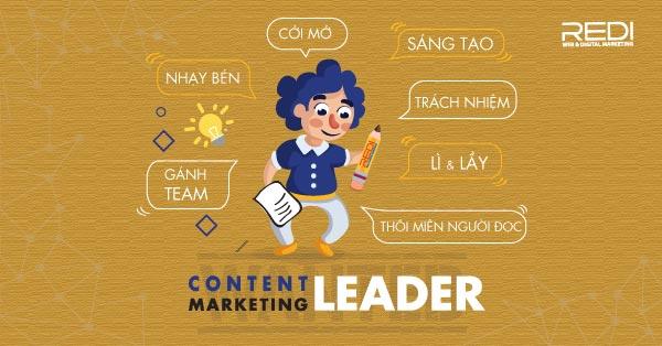 Tuyển dụng vị trí content marketing leader