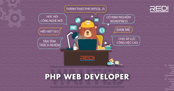 Tuyển dụng vị trí lập trình viên PHP - Web Developer