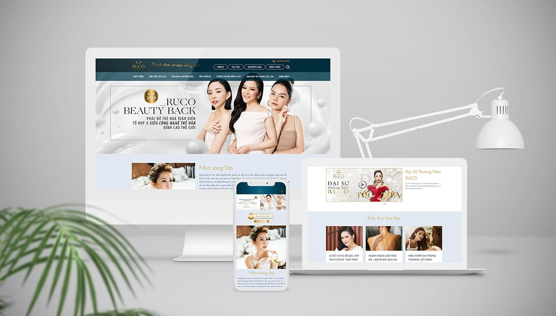thiet ke website ruco international clinic mockup