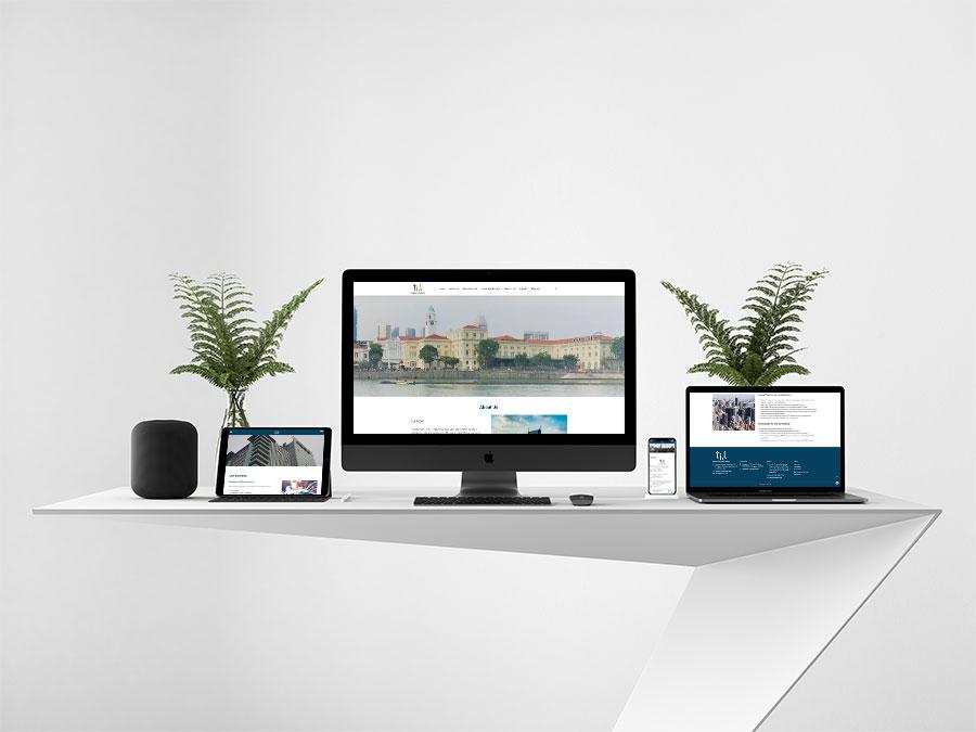thiết kế website giới thiệu công ty TBL mockup